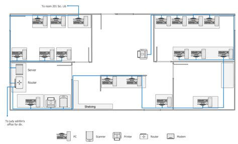 Floor Diagram by Network Layout Floor Plans Solution Conceptdraw
