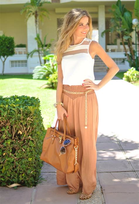 trendy street style outfits  palazzo pants