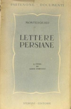 Montesquieu Lettere Persiane by Lettere Persiane Abebooks