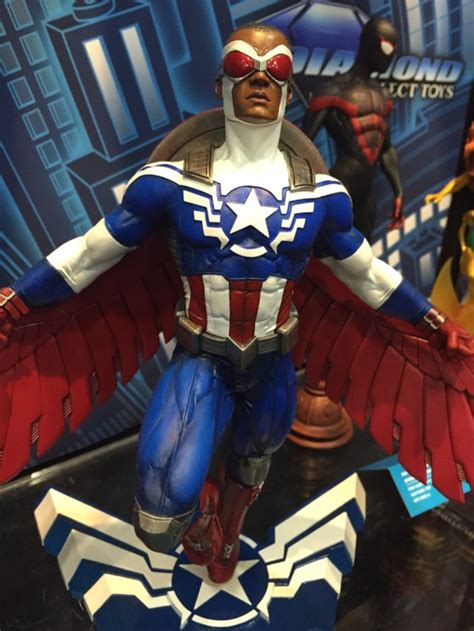 toy fair marvel gallery black panther falcon captain