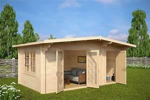 Gartenhaus Sauna Kombination : gartenhaus mit ger teschuppen super otto 15m2 44mm 5x3 hansagarten24 ~ Whattoseeinmadrid.com Haus und Dekorationen