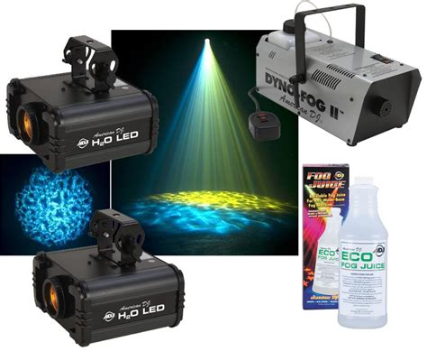 dj lights packages american dj 2 h20 led water ripple