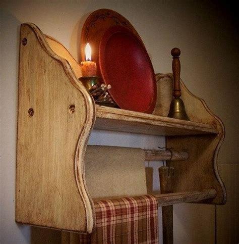 vintage wooden towel shelf  quilt rack farmhouse cottage