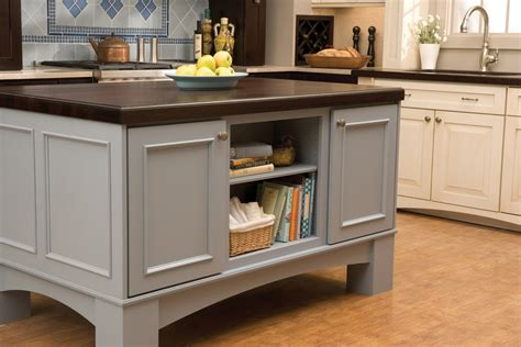 kitchen island with storage cabinets crestwood cabinetry island storage design elements 8269
