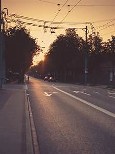 Urban Street Sunset Light Android Wallpaper free download