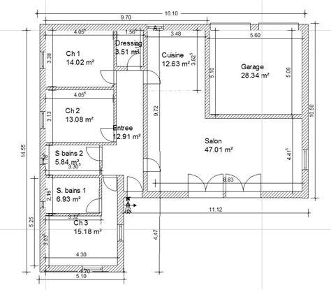 plan maison 130m2 plain pied