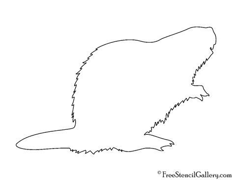 beaver silhouette stencil  stencil gallery