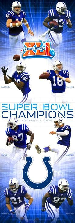2007 Super Bowl Xli Colts Bears Sports Poster Warehouse
