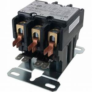 3 Pole Contactor 40 Amp 120vac Coil
