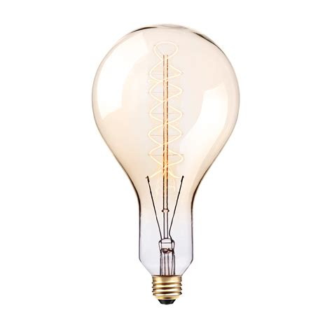 oversized vintage style 100w clear glass dimmable