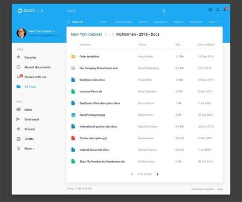 doczilla document management blue material design