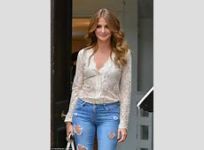 Millie Mackintosh puts cleavage on display as she