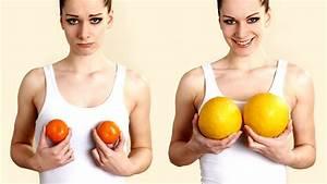 Natural Breast Enlargement With just Two Foods - YouTube  Breast