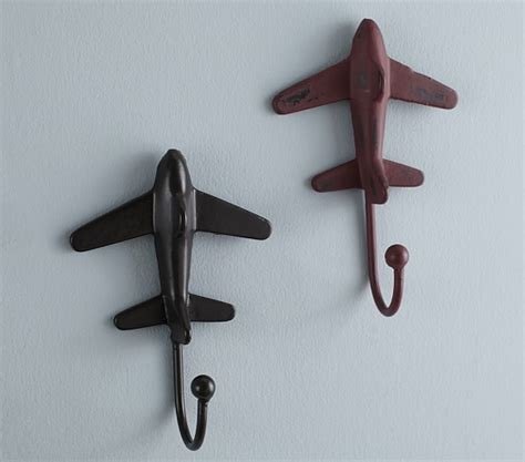 Pottery Barn Decorative Wall Hooks by Rustic Metal Plane Hooks Pottery Barn