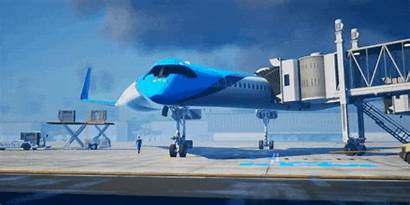 Flying Airplane Futuristic Inside Concept Passengers Plane