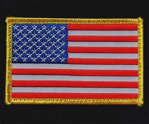 USA AMERICAN FLAG TACTICAL US ARMY MORALE MILITARY BADGE ...