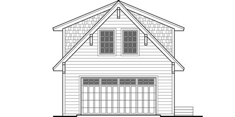 carriage house plan  story house plan adu house plans