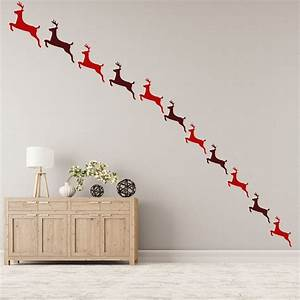 Reindeer Wall Sticker Pack Festive Christmas Wall Decal