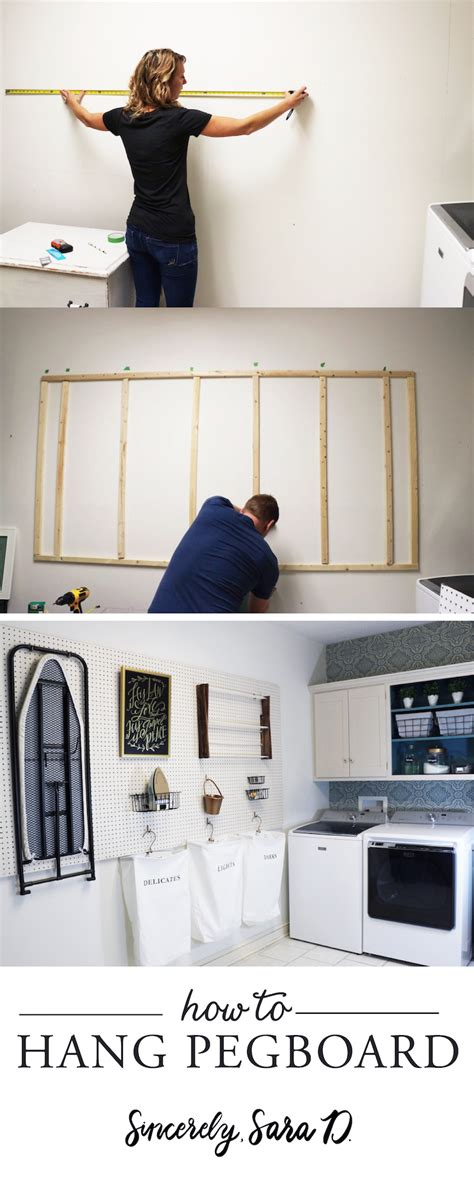 Diy Laundry Room Decor - diy laundry room pegboard sincerely d