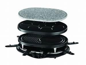 Appareil Raclette Pierrade : appareil raclette multifonctions 8 personnes russell ~ Premium-room.com Idées de Décoration