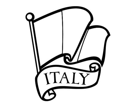 flag  italy coloring page coloringcrewcom
