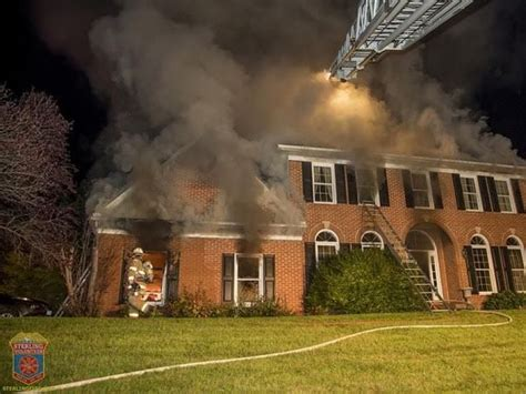 Firefighters Put Out House Fire In Loudoun County Photos