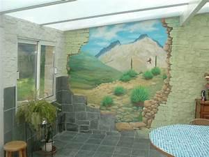 decoration mur interieur veranda With deco mur exterieur maison 7 decoration en trompe loeil en exterieur