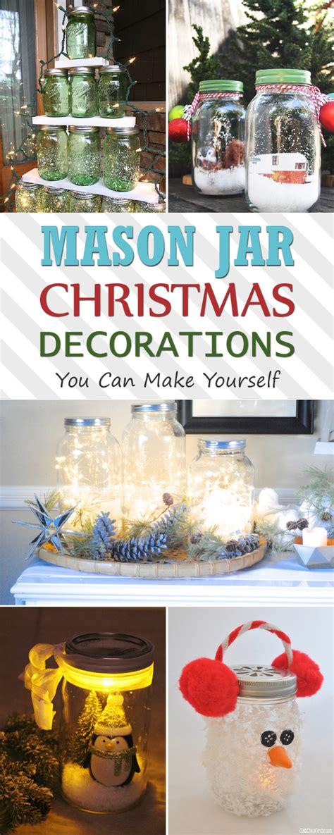 12 mason jar christmas decorations you can make yourself