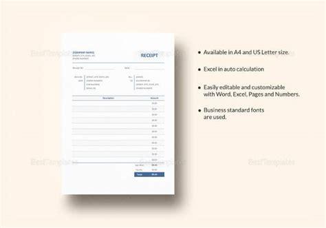 doctors receipt templates   ms word