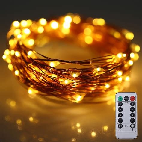 10m 100 leds battery operated decorative string light with remote control ebay