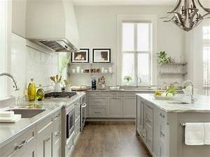 two tone white gray kitchen floating shelves gray With kitchen colors with white cabinets with usa map wall art