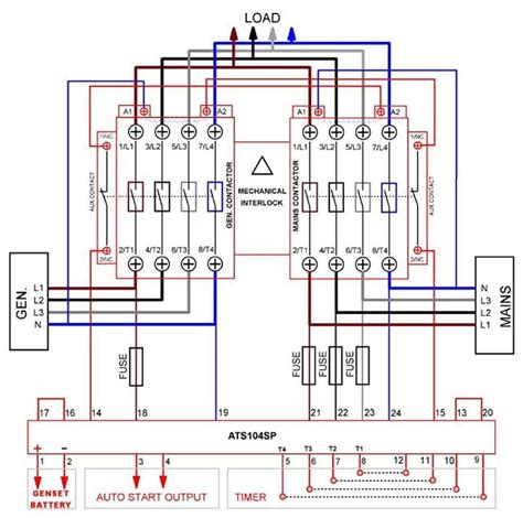 Single Line Diagram Autocad Lt by Automatic Transferred Switch Ats Circuit Diagram