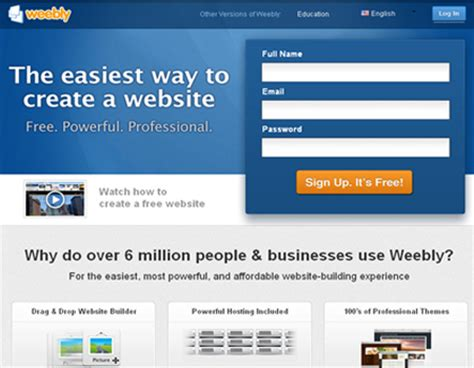 Create Website In Weebly Without Template by 24 Useful Websites To Help You Create Your Own Website