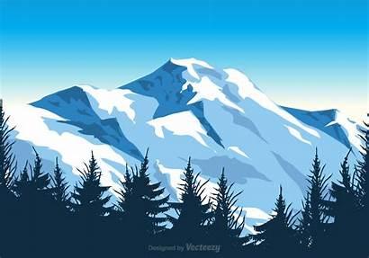 Vector Everest Mount Illustration Mountain Landscape Mountains
