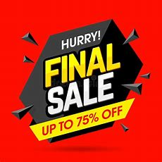 Final Sale Banner Poster Stock Vector Illustration Of Closeout 70298936