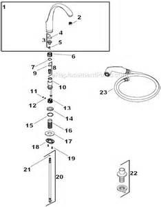 replacement kitchen faucet kohler k 10430 parts list and diagram ereplacementparts