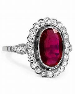 34 royal ruby engagement rings martha stewart weddings With ruby wedding ring
