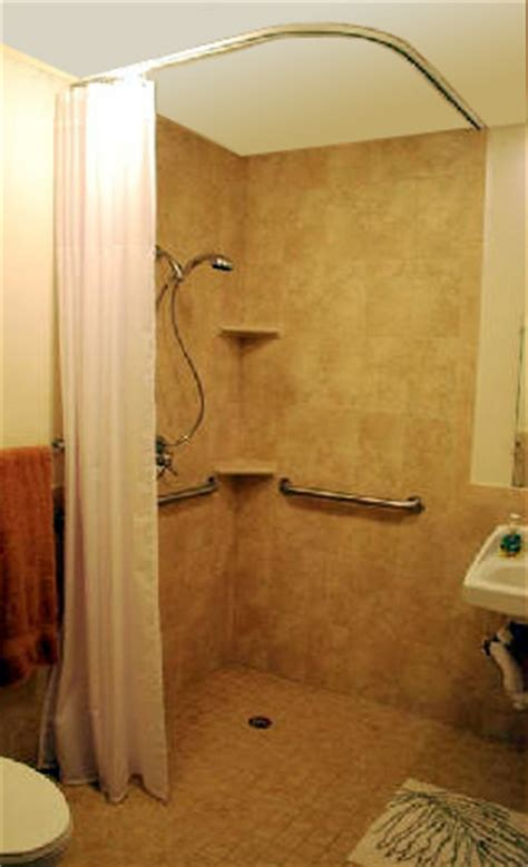 source for ceiling mounted shower rods handicapped