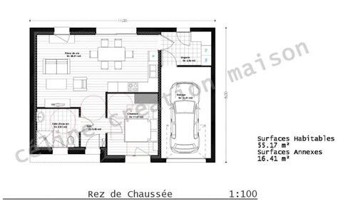 plan de maison plain pied 2 chambres les maisons séniors