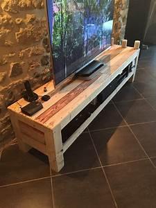 meuble tv de la palette pallet ideas recycled With meuble tv