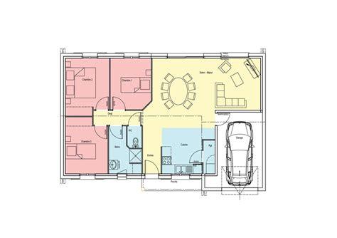 plan 3 chambres plan de maison 100m2 3 chambres with plan de maison 100m2