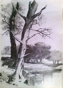 landscape in pencil landscape pencil drawings
