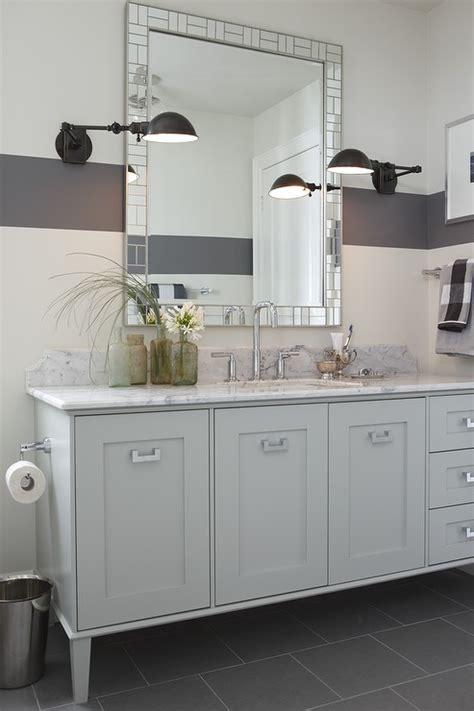 light gray vanity contemporary bathroom  paints