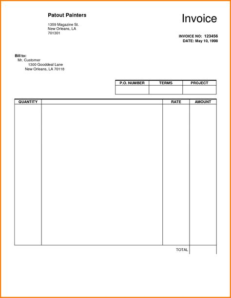 blank invoice  dascoopinfo