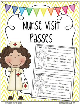 nurse visit passes school nurse office  nursing