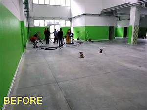 Levigatura e lucidatura dei pavimenti in cemento industriale e calcestruzzo Ecos Pulizie Roma