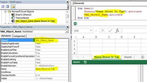 excel trying to reference another worksheet in active