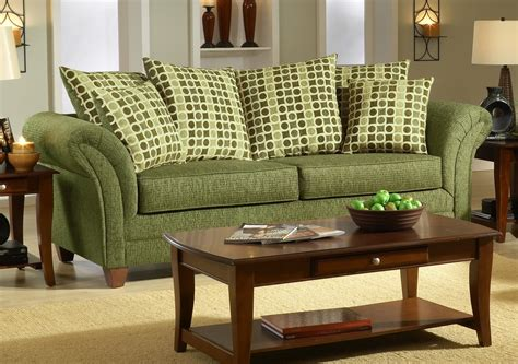Green Sofa by Light Forest Green Fabric Modern Living Room Sofa