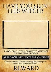 HARRY POTTER INSPIRED WANTED POSTER by KateBloomfield on DeviantArt
