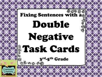 9 Best Grammar  Double Negatives Images On Pinterest  Double Negative, Articulation Therapy